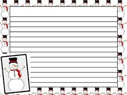 printable lined paper with dotted midline freebie snowman writing paper tpt free lessons pinterest