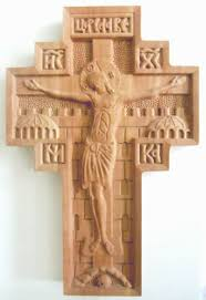 kosovo draganac monastery carved wooden wall cross 7 1 2 on