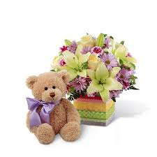 Teddy Bear Delivery Celebration Bear Bouquet At Send Flowers