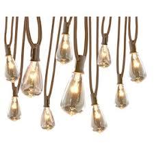 Edison Lights String by Allen Roth 13 Ft 10 Light White Plug In Bulbs String Lights