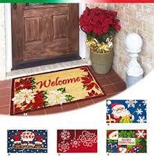 tappeti natalizi zerbino cocco natalizio 40x70 retro antiscivolo tappeto natale