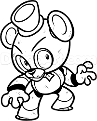 five nights at freddys characters cute coloring pages just colorings