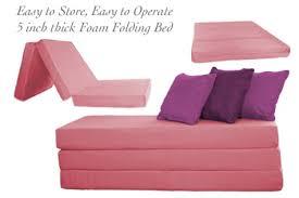 Folding Foam Bed Folding Foam Bed Pink 5 Inch Eco Friendly The Futon Shop