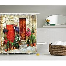Tuscan Decor Amazon Com Ambesonne Tuscan Decor Collection Mediterranean
