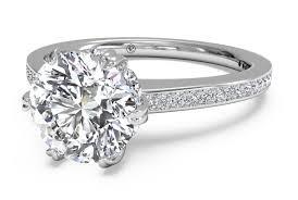 Vintage Style Cushion Cut Engagement Rings Ritani Diamond Eternity Engagement Setting Jessop Jeweler Of San