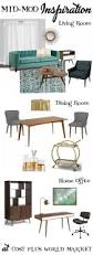 style inspiration how to add some mid mod style to your home