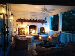 Outdoor Fireplace Deck This Would Be Real Nice Off My Bedroom Love It Beautiful Patio