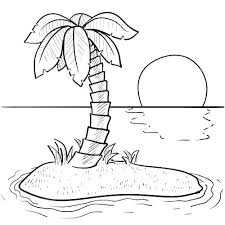 coloring pictures of a palm tree beach coloring pages palm tree beach coloring pages best images on