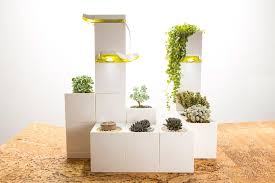 Indoor Planter Pots by Build Your Own Indoor Garden With Modular Lego Like Blocks