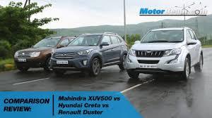 renault kuv mahindra xuv500 vs hyundai creta vs renault duster comparison