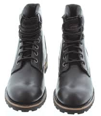 mens biker boots uk cat sequoia logger boots in black in black