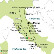 Pisa Italy Map by Cosmos Tours Jewels Of Italy 2016