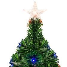 7ft fiber optic artificial christmas tree w ul certified lights