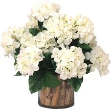 faux white hydrangea arrangement in glass vase u0026 reviews joss u0026 main