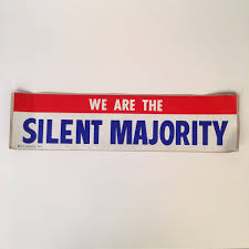 1969 vintage bumper sticker we are the silent majority new old