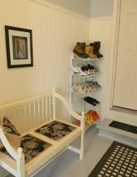 mudroom mudroom idea with bench and cabinets in white furnished