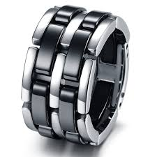 mens stainless steel rings fashion stainless steel bands foldable chain mens ceramic