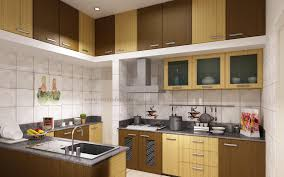 modular kitchen ideas with cream brown colors wooden kitchen