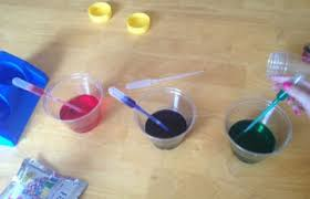 squishy squeezy messy color mixing kitchen science steve