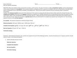 net ionic equation worksheet answers u2013 guillermotull com