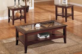 glass end table set mahogany coffee table with glass top coffee tables pinterest