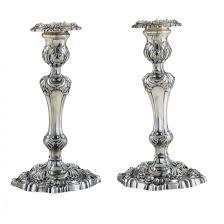 candelieri in argento coppia candelieri argento argenti antichi fecarotta gioelli