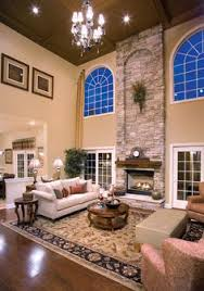 Two Story Family Room With Coffered Ceiling Google Search Den - Two story family room