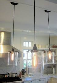 Glass Kitchen Pendant Lights Lighting Contemporary Kitchen Pendant Lighting Design With Black