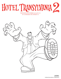 hotel transylvania colouring pages playroom