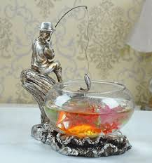 classic fish ring holder images Classic style vintage glass fish bowl tank country jpg
