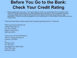 trw credit bureau e baker senior vice president citizens bank 919