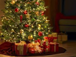 christmas presents under tree ne wall