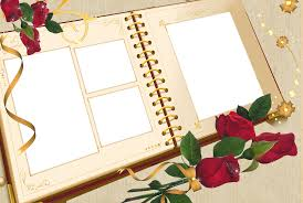 large photo album large transparent album frame with roses gallery yopriceville