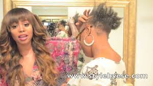 hair weave styles 2013 no edges tutorial how to install lace closure sew in on receding hairline