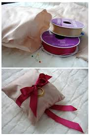 wedding pillow rings ribbon ring bearer pillow wedloft