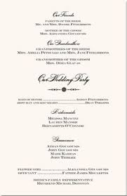 wedding ceremony program covers wedding program wording wedding program exles wedding