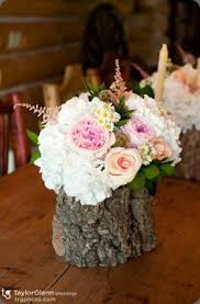 wood log vases les trois bouquets blancs three stacking vases in matte white