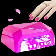 cure nail polish with uv l rose red 36w nail l shape ccfl led uv nail l dryer art