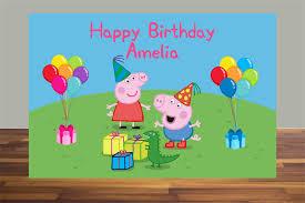 peppa pig birthday printable backdrop peppa pig peppa george pig peppa pig