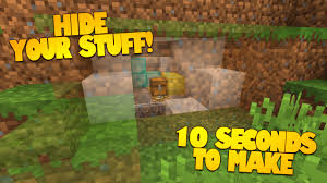 minecraft redstone how to make a secret room in 10 seconds