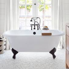 clawfoot tubs vintage tub bath randolph morris 66 inch cast iron double ended clawfoot tub rim drilling