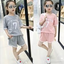 Inexpensive Children S Clothing Kids Girls Summer 2016 New Suit Big Virgin Korean Version Of The