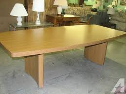 Oak Meeting Table 8 Ft Boat Shape Oak Conference Table For Sale In Fort Wayne