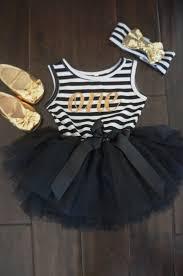 Black White Striped Halloween Costume Birthday Tutu Dress Number Birthday Tutu Tutu Dresses