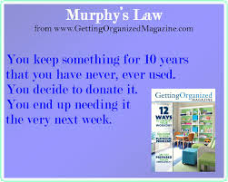 organizing yourself murphy s organizing law no worries just ask yourself this