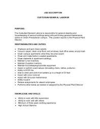 General Laborer Resume Dietary Aide Job Description Sample Resume For Nursing Assistant