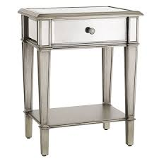 hayworth mirrored silver nightstand pier 1 imports