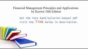 practice test bank for financial management principles and