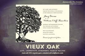 oak tree wedding invitations on handmade paper vieux oak