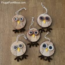 wood slice owl ornament craft